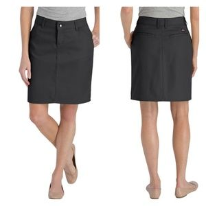Dickies cotton twill stretch pocketed pencil skirt